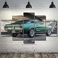 IMXBTQA Canvas Picture 5 Pieces Wall Art 125X60Cm