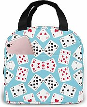 in Wonderland Playing Cards Lunch Bag for Women