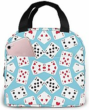in Wonderland Playing Cards Lunch Bag Reusable