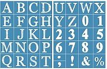 Incdnn Alphabet Number Self-Adhesive Silk Screen