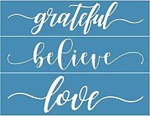 Incdnn Believe Love Self-Adhesive Silk Screen