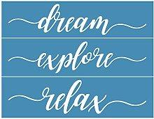Incdnn Dream Explive Self-Adhesive Silk Screen