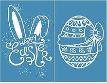 Incdnn Easter Bunny Eggs Self-Adhesive Silk Screen