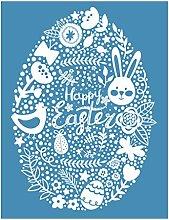 Incdnn Easter Eggs Self-Adhesive Silk Screen