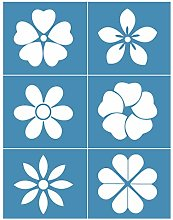 Incdnn Flowers Self-Adhesive Silk Screen Printing
