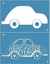Incdnn Happy Easter Car Self-Adhesive Silk Screen