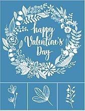 Incdnn Happy Valentine's Day Self-Adhesive