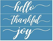 Incdnn Hello Thankful Joy Self-Adhesive Silk