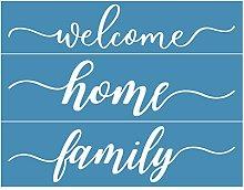 Incdnn Home Family Self-Adhesive Silk Screen