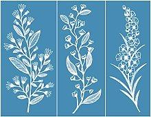 Incdnn Leaf Flower Self-Adhesive Silk Screen