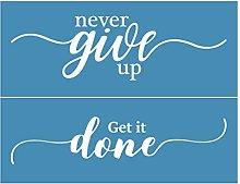 Incdnn Never Give Up Self-Adhesive Silk Screen