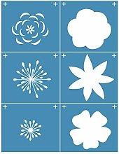 Incdnn Snowflake Flower Self-Adhesive Silk Screen