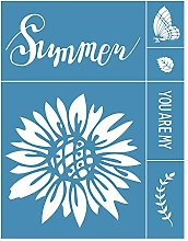 Incdnn Summer Flower Self-Adhesive Silk Screen