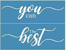 Incdnn The Best You Can Self-Adhesive Silk Screen