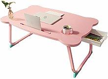 InChengGouFouX Adjustable Laptop Desk Table Pink