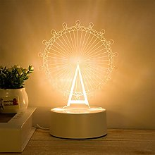 Inchoi 3D Table Lamp, Creative LED Night Light,