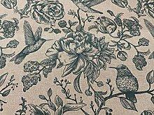 Inchyra Birds Toile 140cm Curtain Fabric Designer