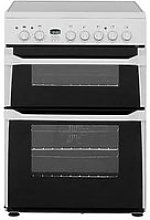 Indesit Id60C2Ws Ceramic Hob Double Oven Electric