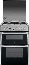 Indesit ID60G2X 60cm Double Oven Gas Cooker -