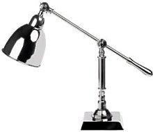 India Jane - Heathcliff Nickel Desk Lamp - Silver