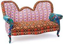 India Style Fabric Sofa Patchwork Style