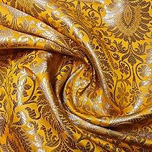 Indian Banarasi Brocade Ornamental Floral Fabric