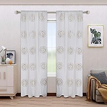 Indian designer curtain with mirror and silk floss