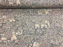 Indian Elephant Designer Batik Cotton Material