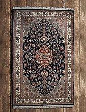 Indian Handmade Oriental Area Rug Wool & Silk