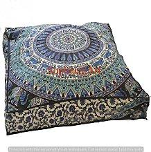Indian Psychedelic Elephant Mandala Floor Pillow