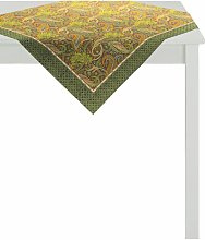 Indian Summer Tablecloth Apelt Colour: Green