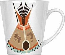 Indian Tipi Tent 1 12oz Latte Mug t125L