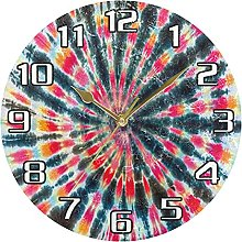 Indian Tribal Tie Dye Wall Clock Silent Non