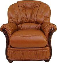 Indiana Genuine Italian Sofa Armchair Tan Leather