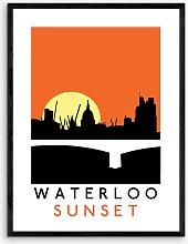 Indie Prints - 'Waterloo Sunset' Wood