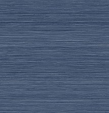 Indigo Crossweave Peel & Stick String Wallpaper