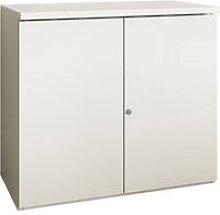 Indigo Low 1 Shelf Cupboard (Frost White), Free
