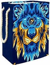 Indimization Blue Lion's Head laundry bin