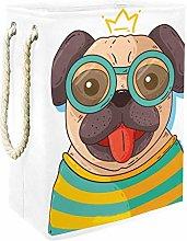 Indimization Cartoon Cute Dog laundry bin Oxford