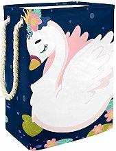 Indimization Cartoon Swan laundry bin Oxford cloth