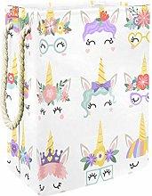 Indimization Cute Unicorn Cartoon laundry bin