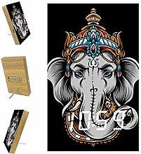 Indimization Digital Alarm Clock crown elephant