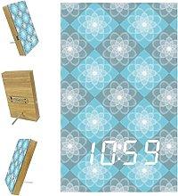Indimization Digital Alarm Clock Gray Blue with