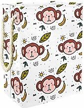 Indimization Leaf Banana Monkey laundry bin Oxford