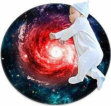 Indimization Red Galaxy Vortex Round area rug art