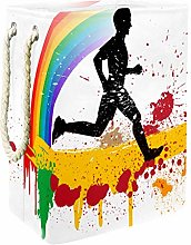 Indimization Running Rainbow Graffiti laundry bin