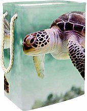Indimization Sea Turtle Brown laundry basket