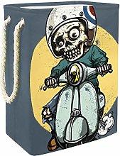 Indimization Skeleton Skull Car laundry bin Oxford