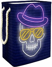 Indimization Skull Head Hat Sunglasses laundry bin