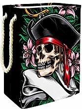Indimization Skull Nautical Flower laundry bin